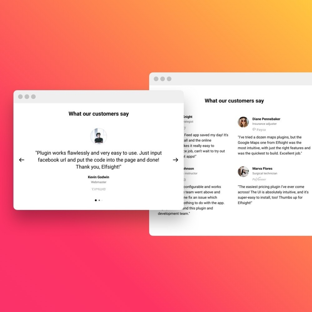 module - Customer Reviews - Elfsight Testimonials Slider - 3