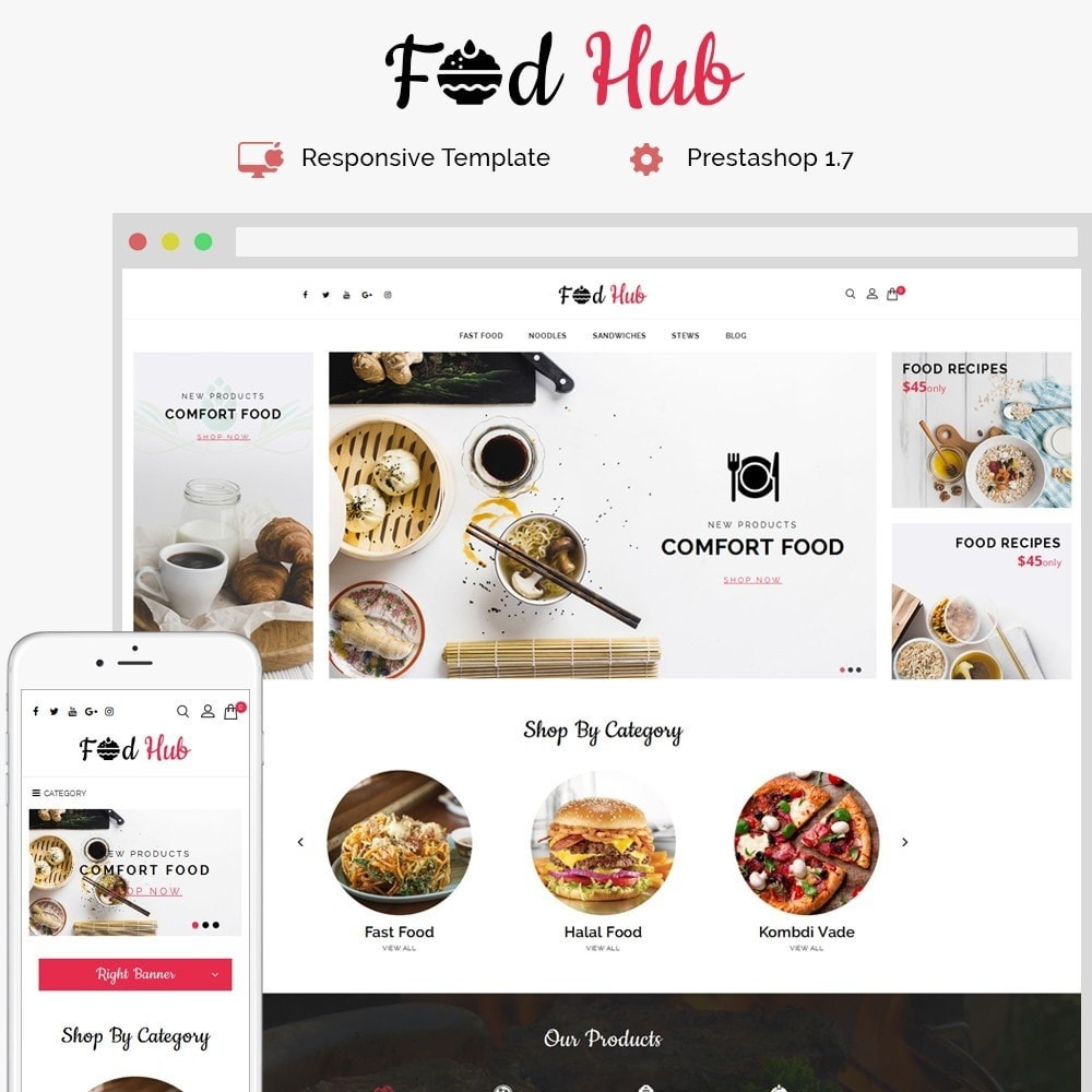 theme - Food & Restaurant - FoodHub Demo Store - 1