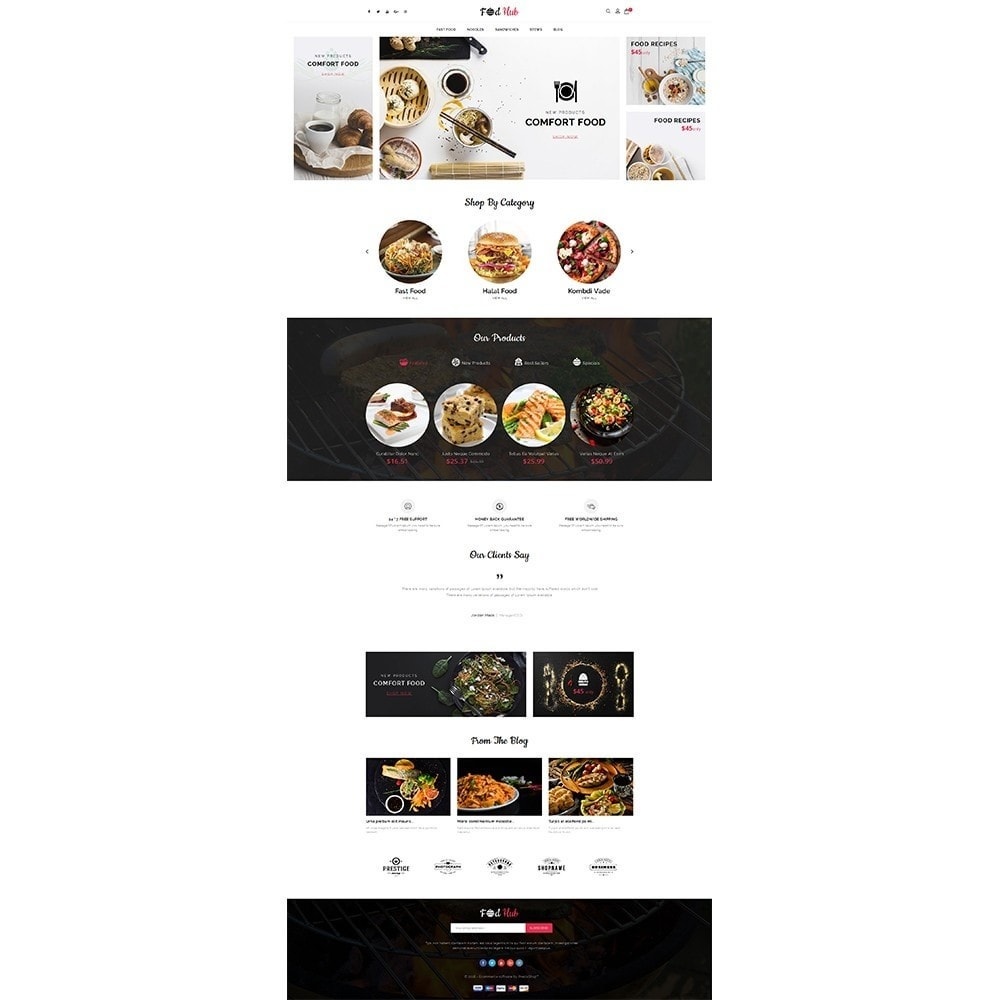 theme - Food & Restaurant - FoodHub Demo Store - 2