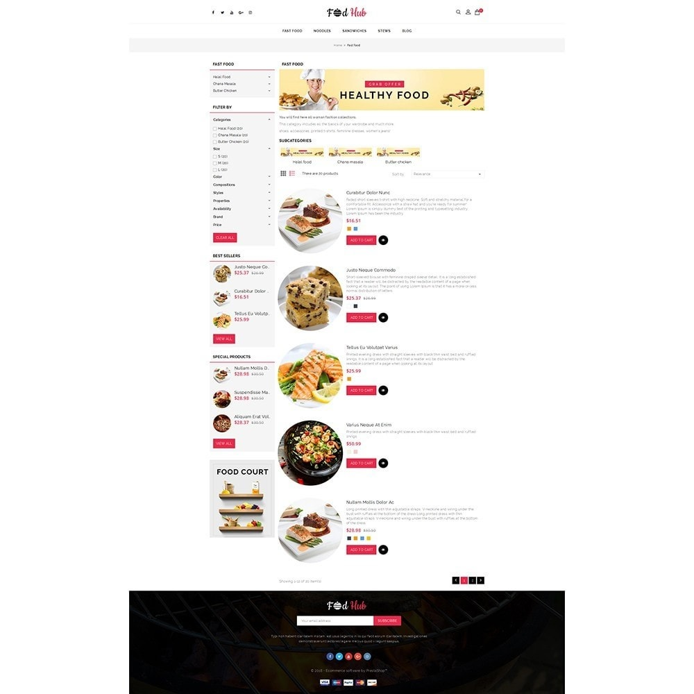 theme - Food & Restaurant - FoodHub Demo Store - 4