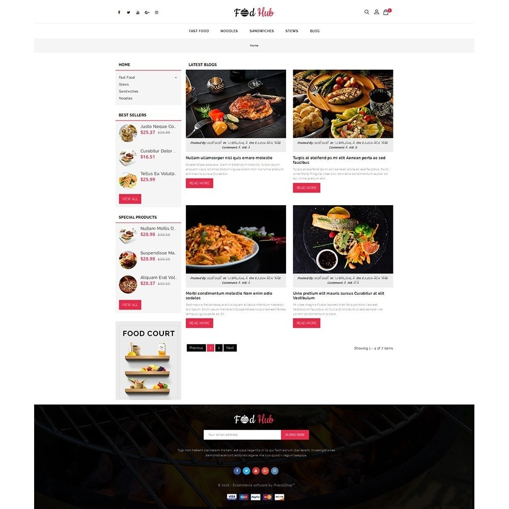 theme - Food & Restaurant - FoodHub Demo Store - 6