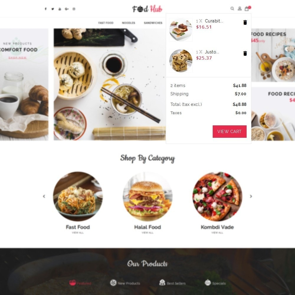 theme - Food & Restaurant - FoodHub Demo Store - 8