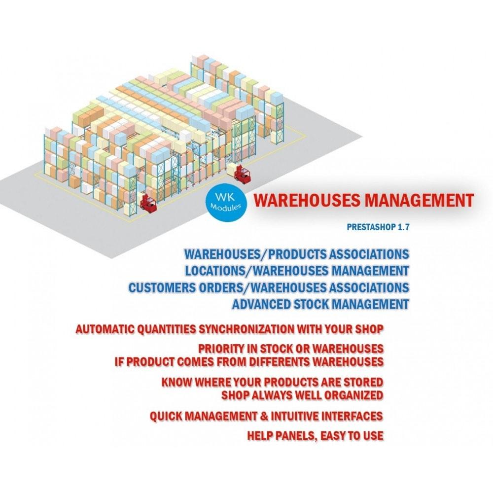 module - Stock & Supplier Management - Wk Warehouses Management For Prestashop 1.7 - 1