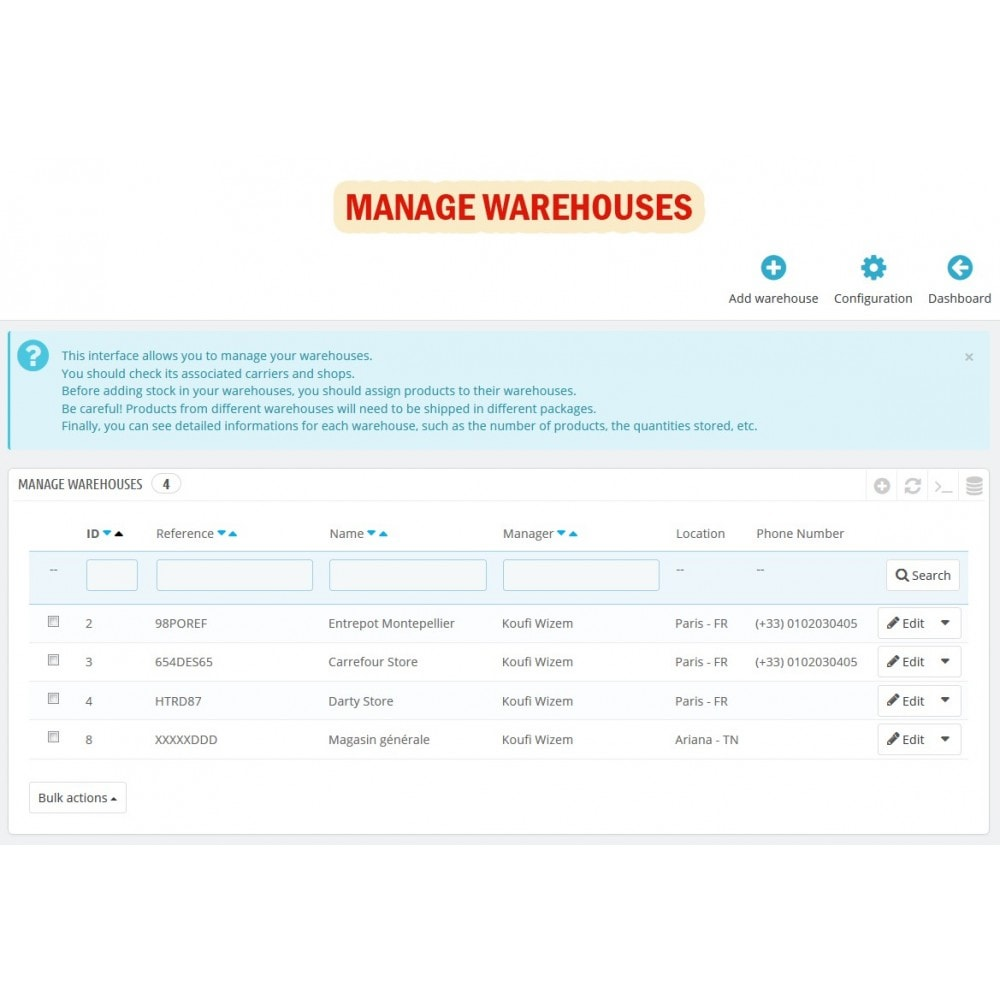 module - Stock & Leveranciersbeheer - Wk Warehouses Management For Prestashop 1.7 - 4