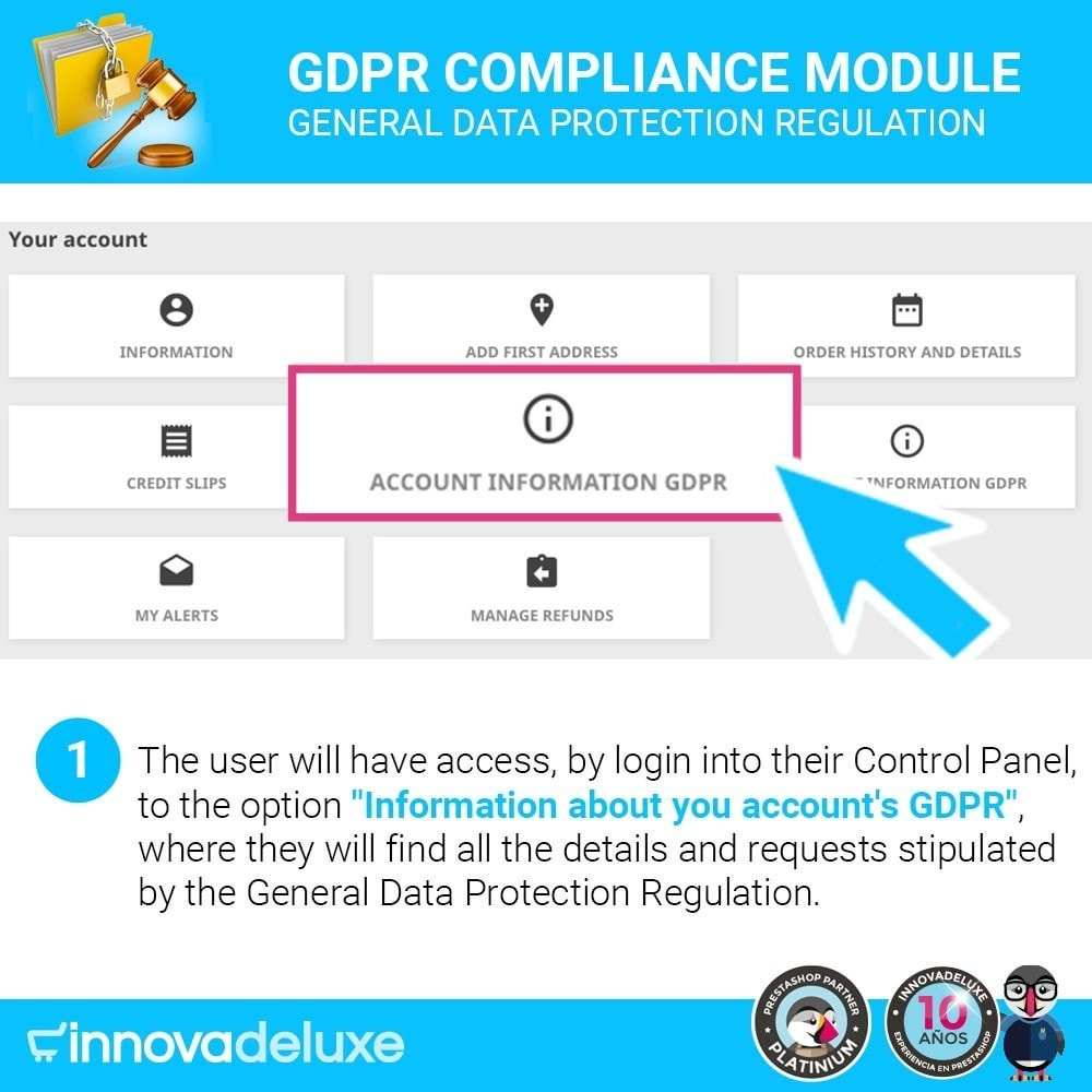 module - Wzmianki prawne - Data privacy extended (data protection law) - GDPR - 2