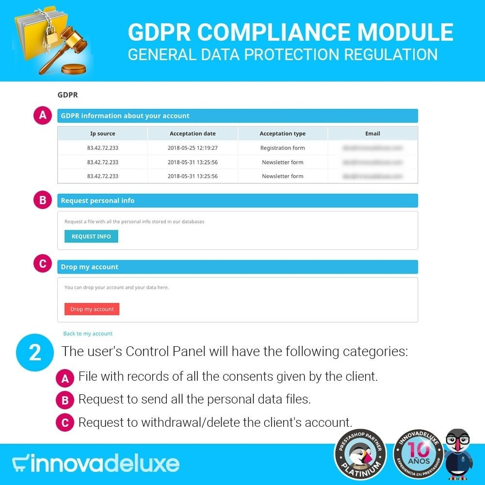 module - Wzmianki prawne - Data privacy extended (data protection law) - GDPR - 3
