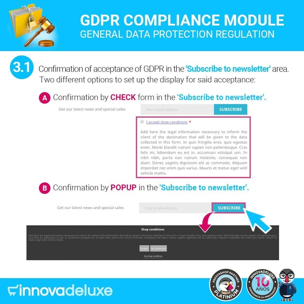 module - Wzmianki prawne - Data privacy extended (data protection law) - GDPR - 4
