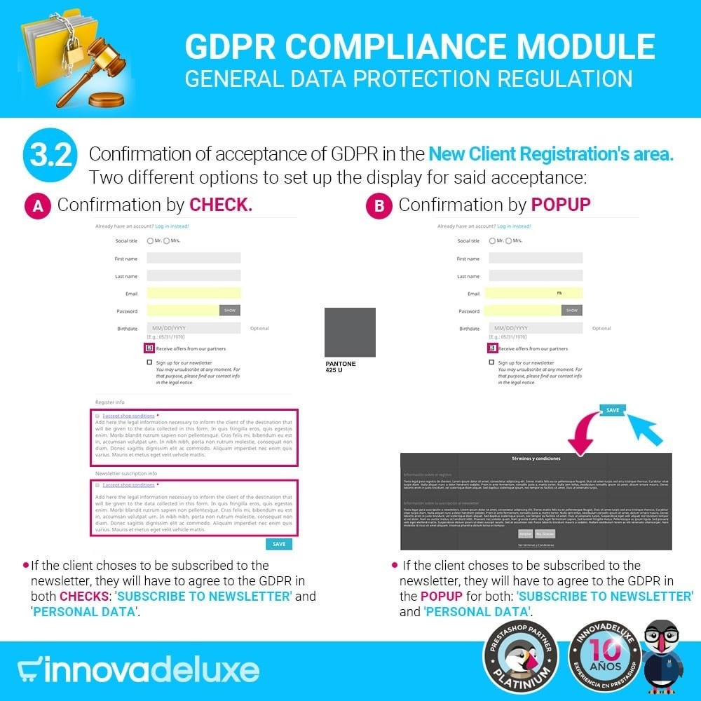 module - Wzmianki prawne - Data privacy extended (data protection law) - GDPR - 5