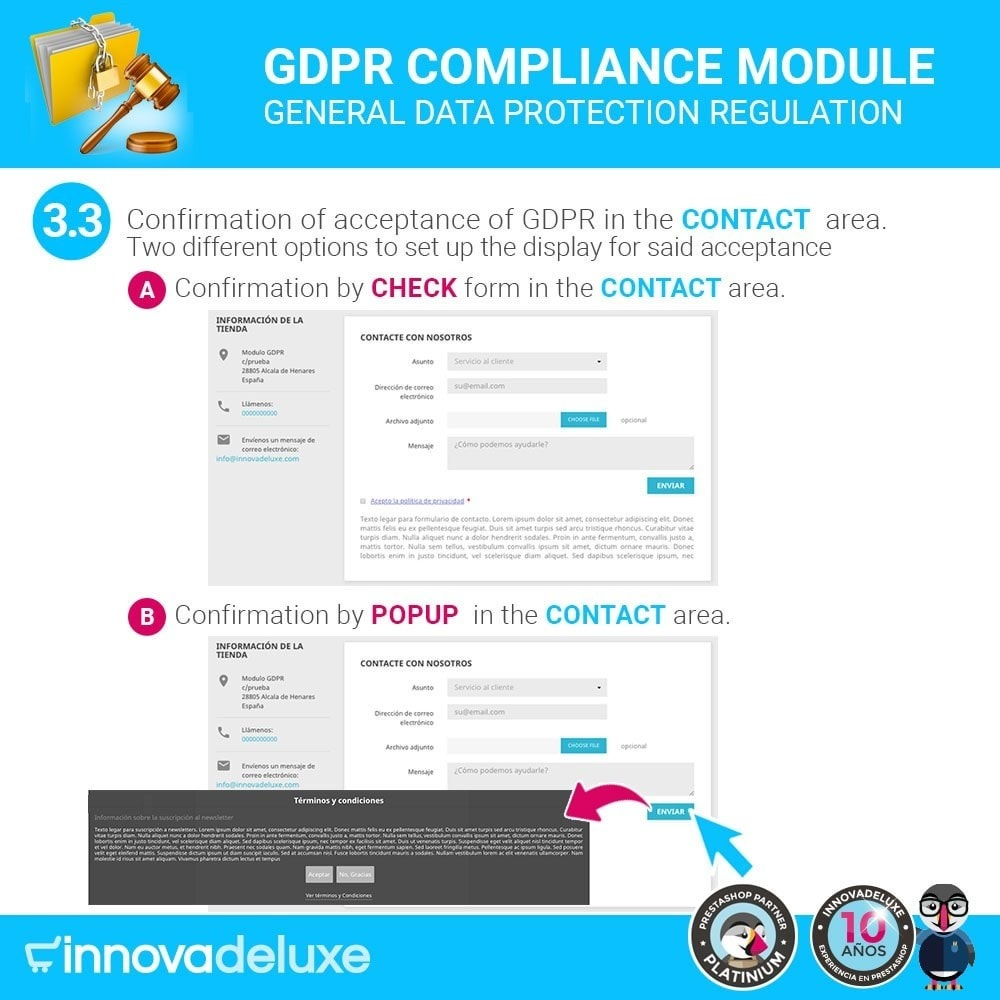 module - Wzmianki prawne - Data privacy extended (data protection law) - GDPR - 6