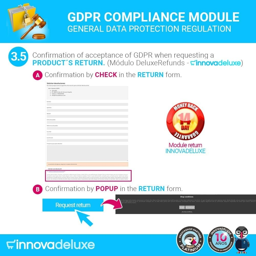 module - Wzmianki prawne - Data privacy extended (data protection law) - GDPR - 8