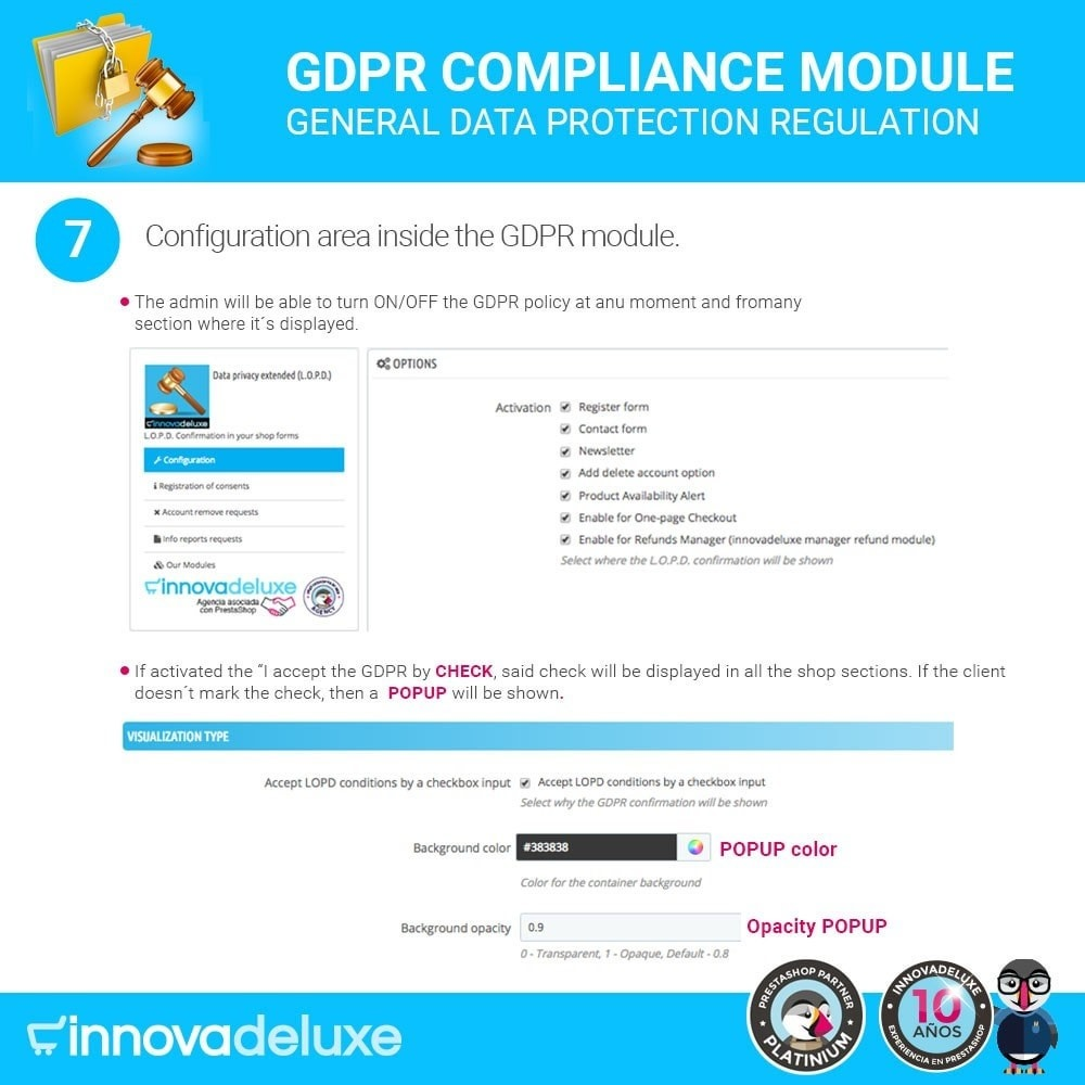 module - Wzmianki prawne - Data privacy extended (data protection law) - GDPR - 12