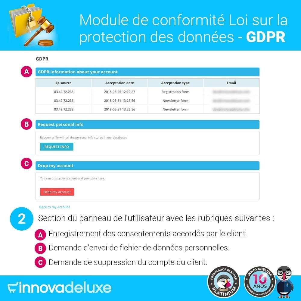 module - Législation - Conformité à la Loi sur la protection des données GDPR - 3