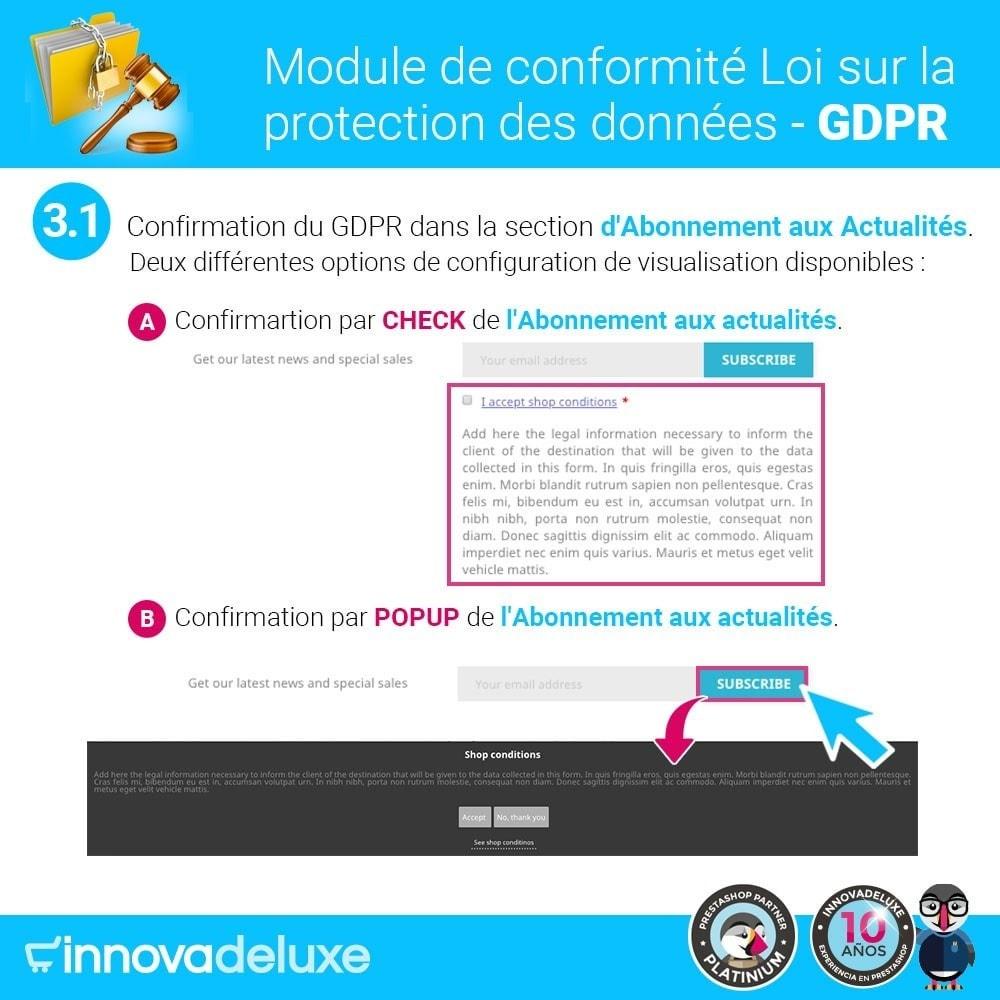 module - Législation - Conformité à la Loi sur la protection des données GDPR - 4