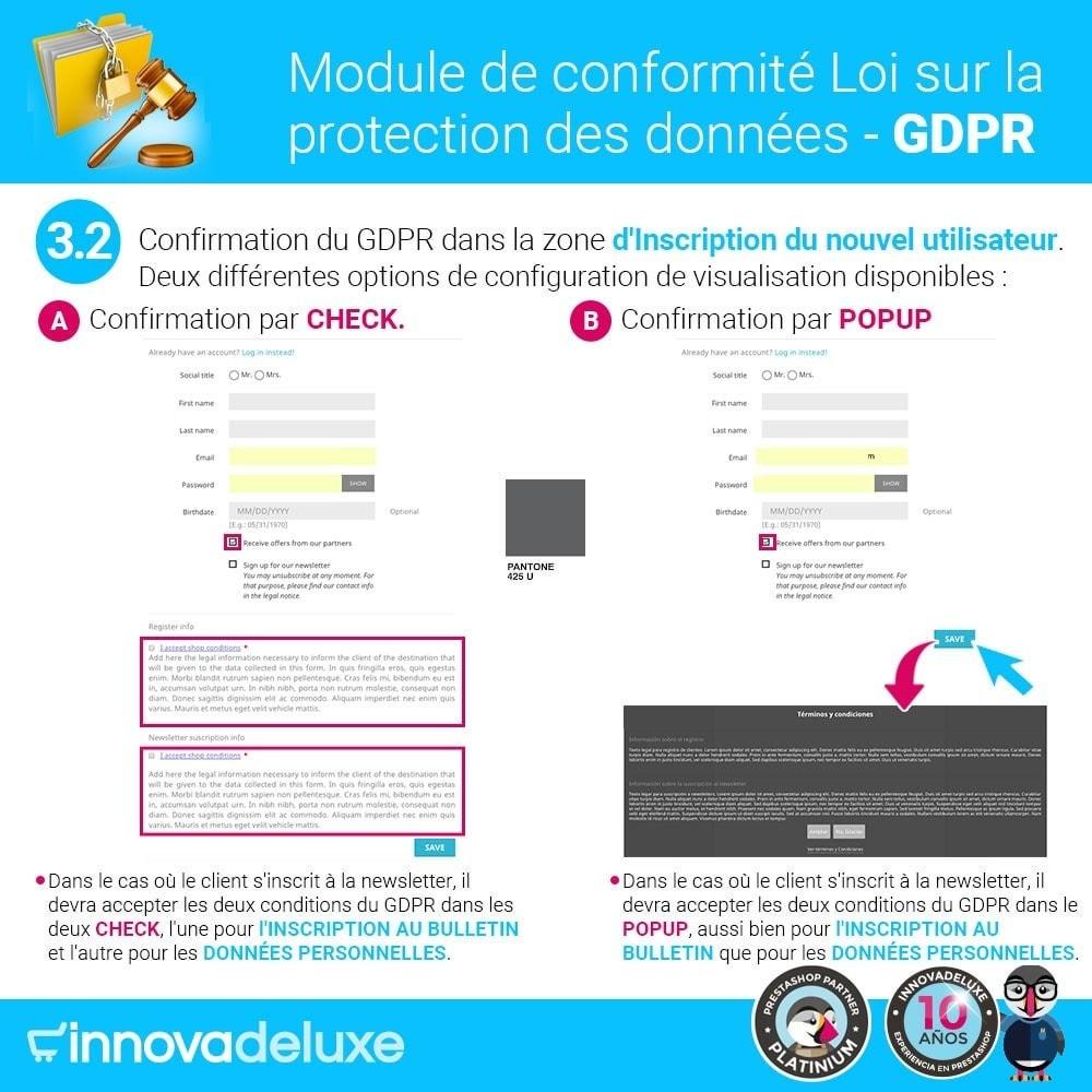 module - Législation - Conformité à la Loi sur la protection des données GDPR - 5