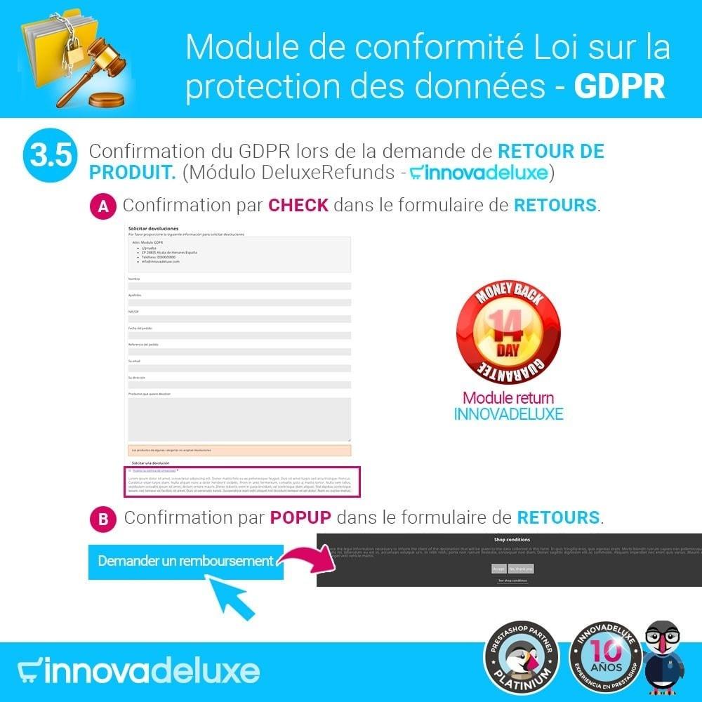 module - Législation - Conformité à la Loi sur la protection des données GDPR - 8