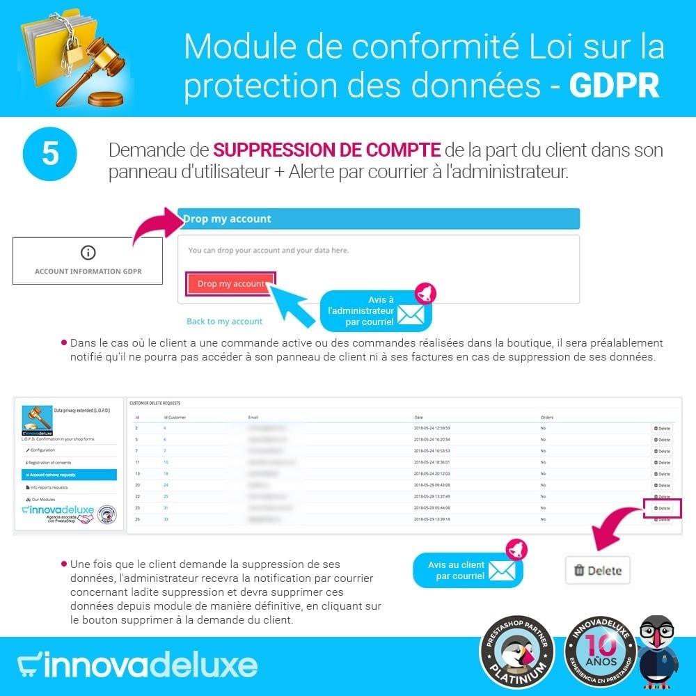 module - Législation - Conformité à la Loi sur la protection des données GDPR - 10