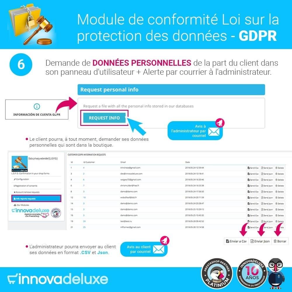 module - Législation - Conformité à la Loi sur la protection des données GDPR - 11