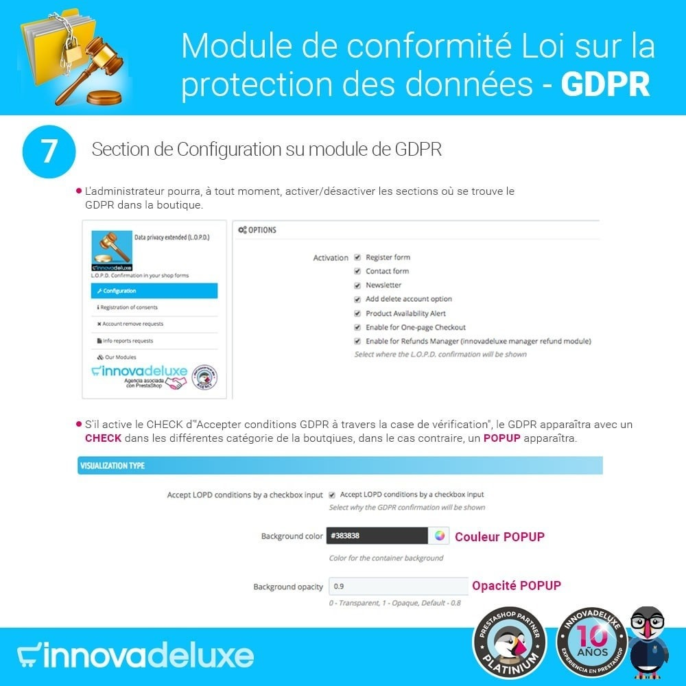module - Législation - Conformité à la Loi sur la protection des données GDPR - 12