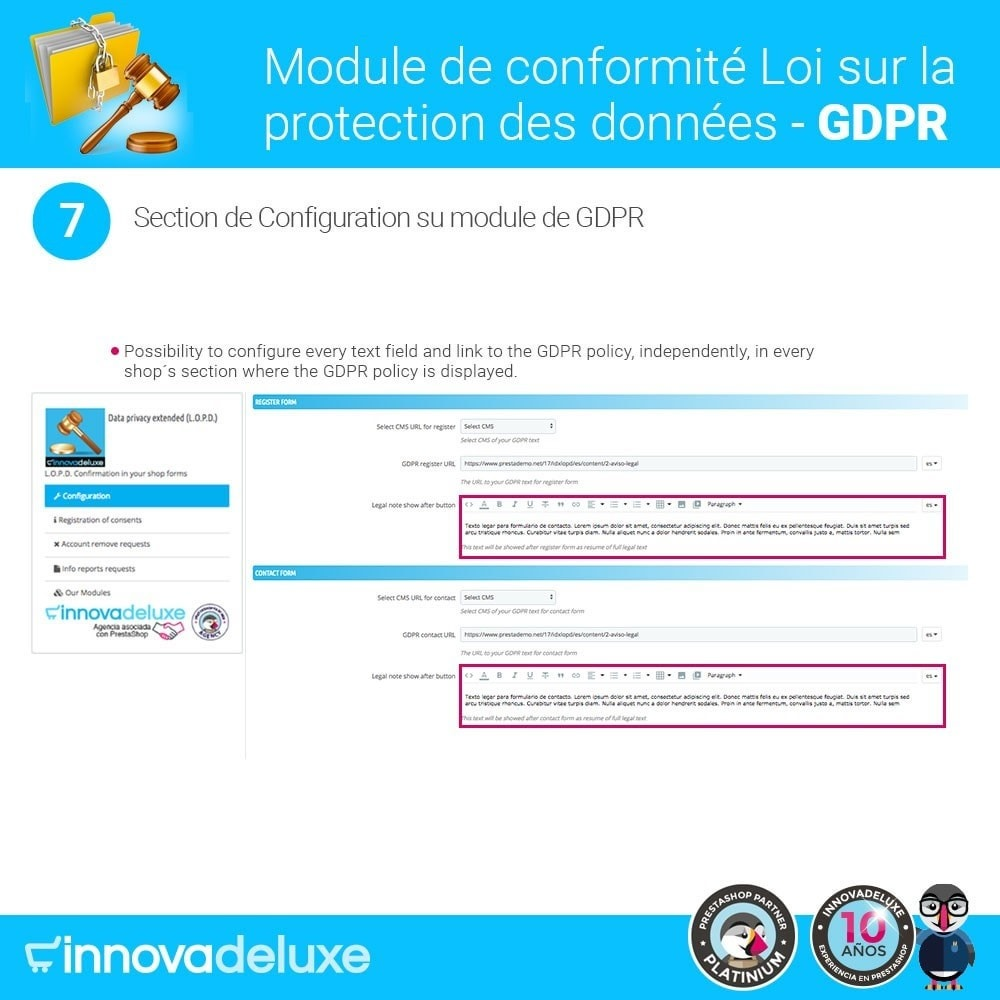 module - Législation - Conformité à la Loi sur la protection des données GDPR - 13
