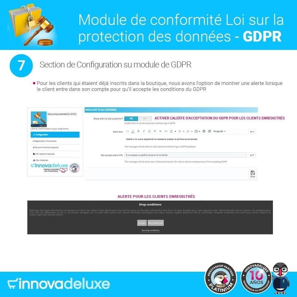 module - Législation - Conformité à la Loi sur la protection des données GDPR - 14