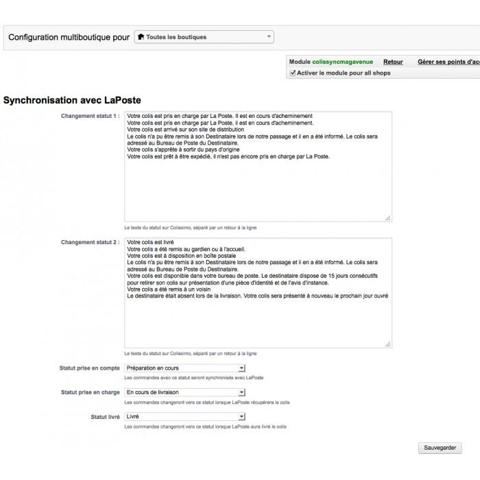module - Sendungsverfolgung - Synchronisation statut commande avec Colissimo - 3