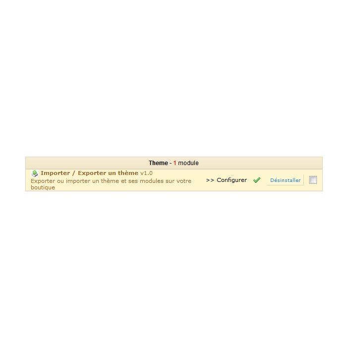 module - Personalización de la página - Import/export a theme - 3