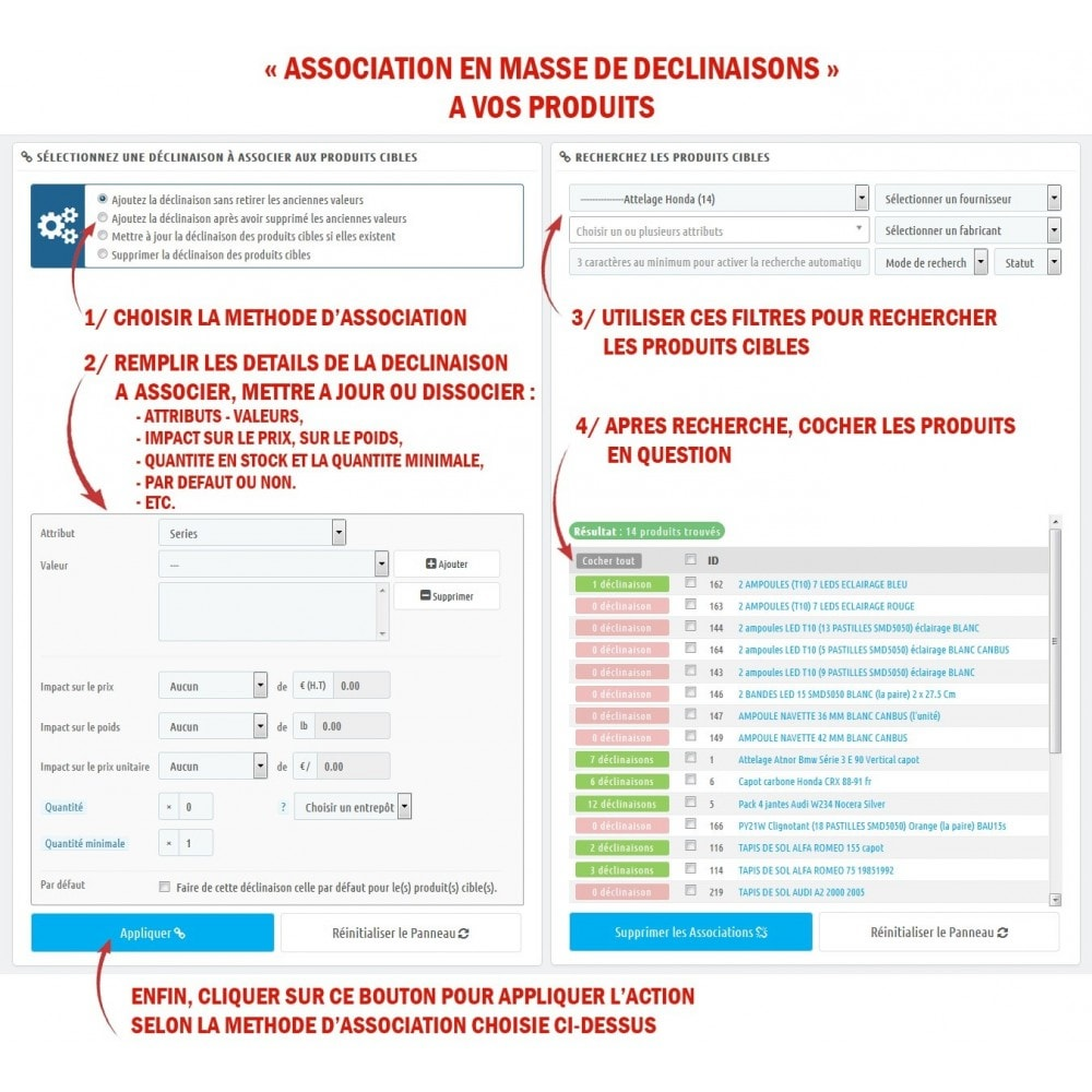 module - Déclinaisons & Personnalisation de produits - WK Gestion en masse des déclinaisons pour vos produits - 3