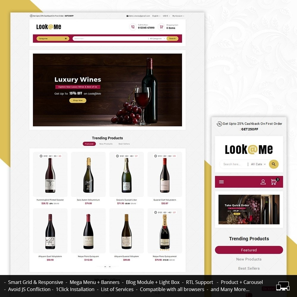 theme - Drink & Tobacco - Look me Wine Store - 1