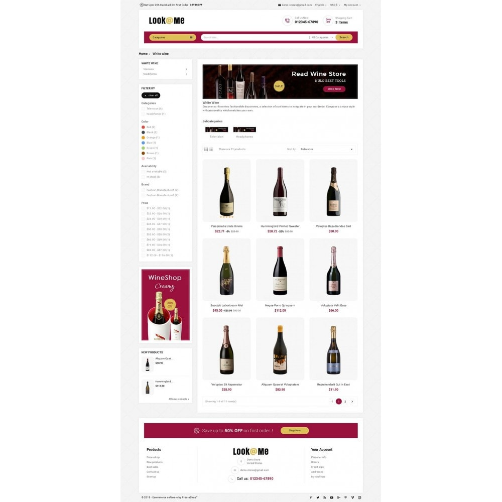 theme - Drink & Tobacco - Look me Wine Store - 3