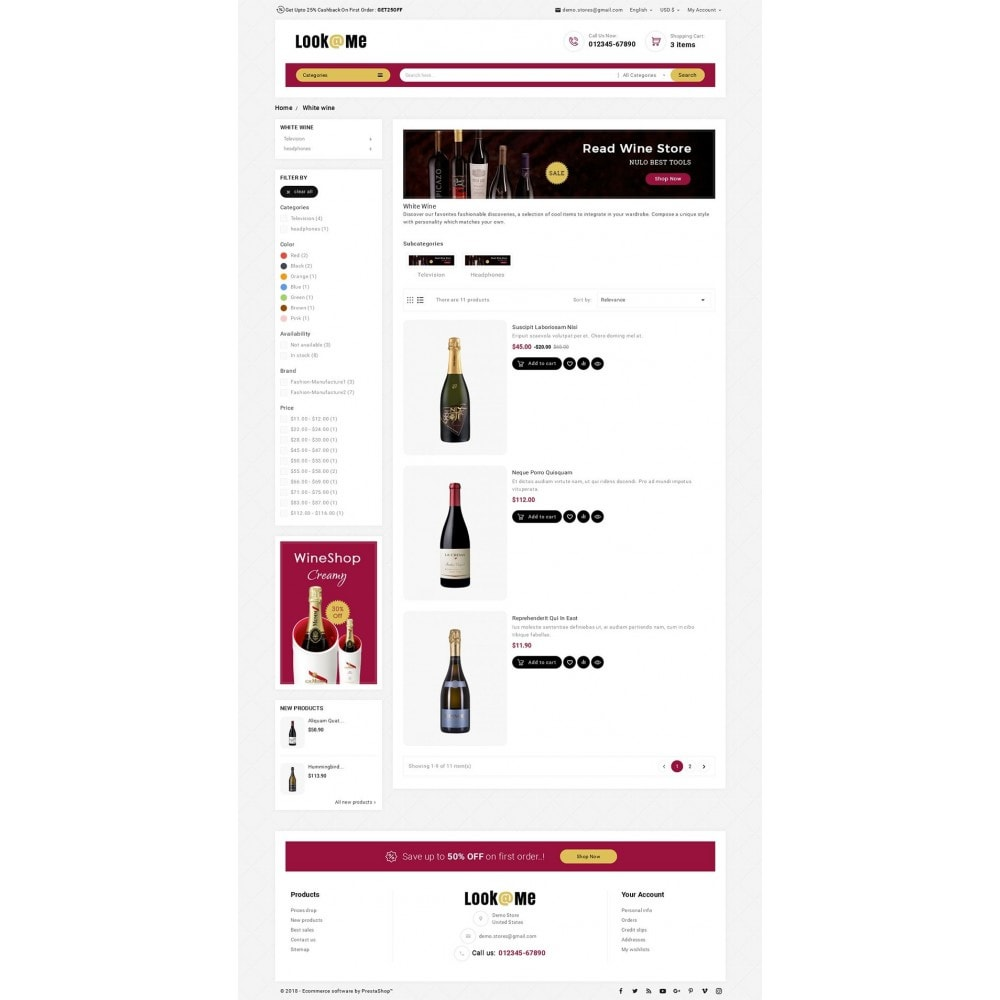 theme - Drink & Tobacco - Look me Wine Store - 4