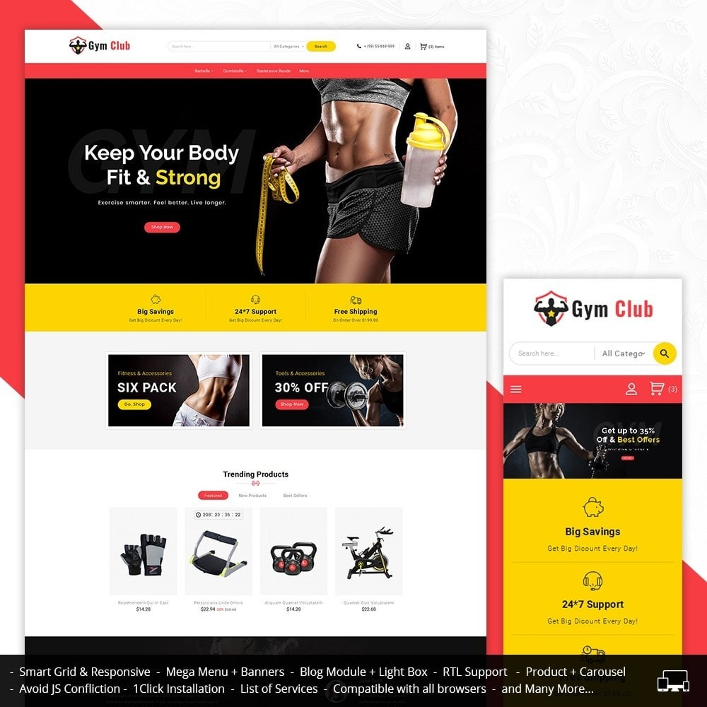 theme - Sport, Aktivitäten & Reise - Gym Club & Equipment - 1