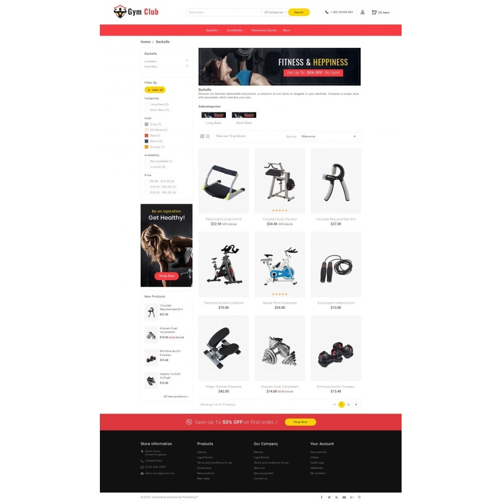 theme - Sport, Aktivitäten & Reise - Gym Club & Equipment - 3