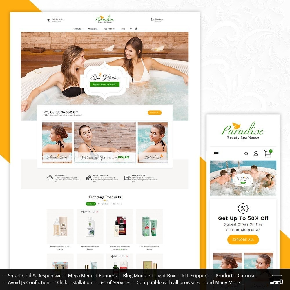 theme - Health & Beauty - Paradise Spa - 1