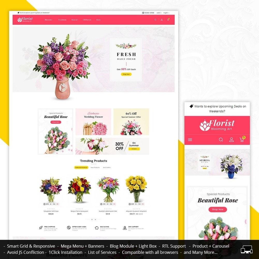 theme - Prezenty, Kwiaty & Uroczystości - Florist Blooming Art - 1