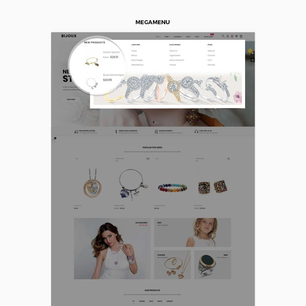 theme - Ювелирные изделия и Аксессуары - Bijoux - Jewelry & Accessories Store - 8