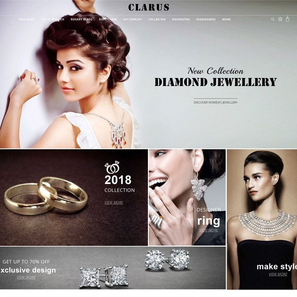 theme - Jewelry & Accessories - Clarus - The Jewelry Shop - 2