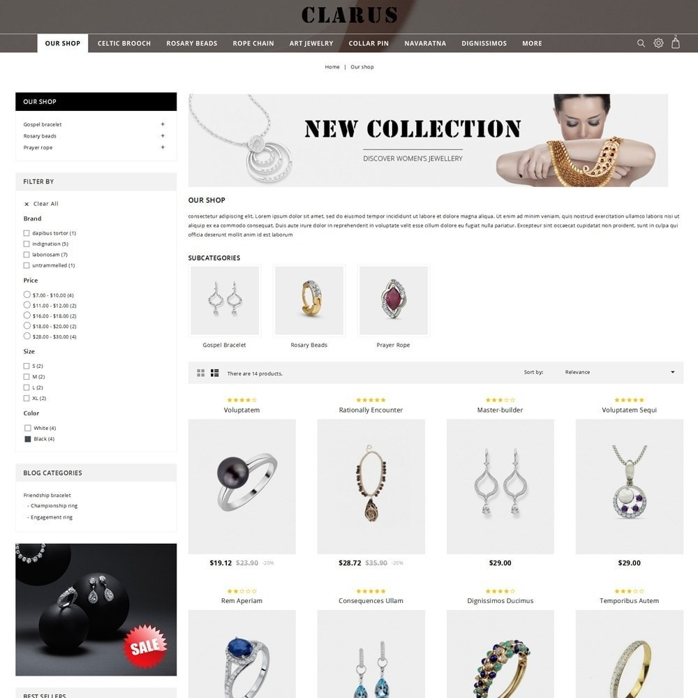 theme - Jewelry & Accessories - Clarus - The Jewelry Shop - 4