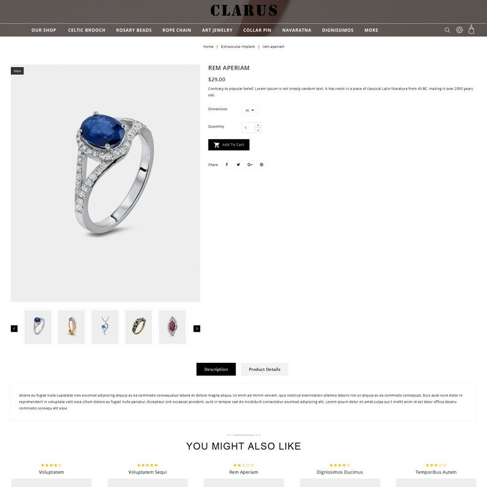 theme - Jewelry & Accessories - Clarus - The Jewelry Shop - 6