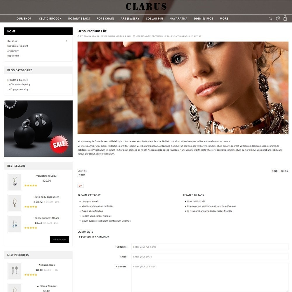 theme - Jewelry & Accessories - Clarus - The Jewelry Shop - 7