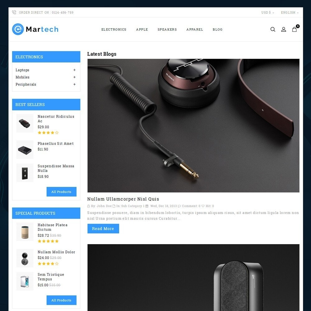 theme - Electronique & High Tech - Martech Electronic Store - 6