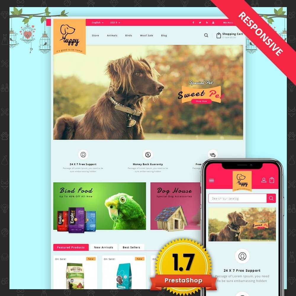 theme - Animals & Pets - Puppy Pet Store - 1