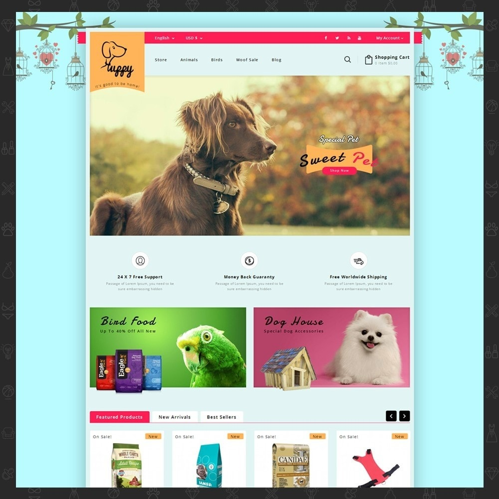 theme - Animals & Pets - Puppy Pet Store - 2