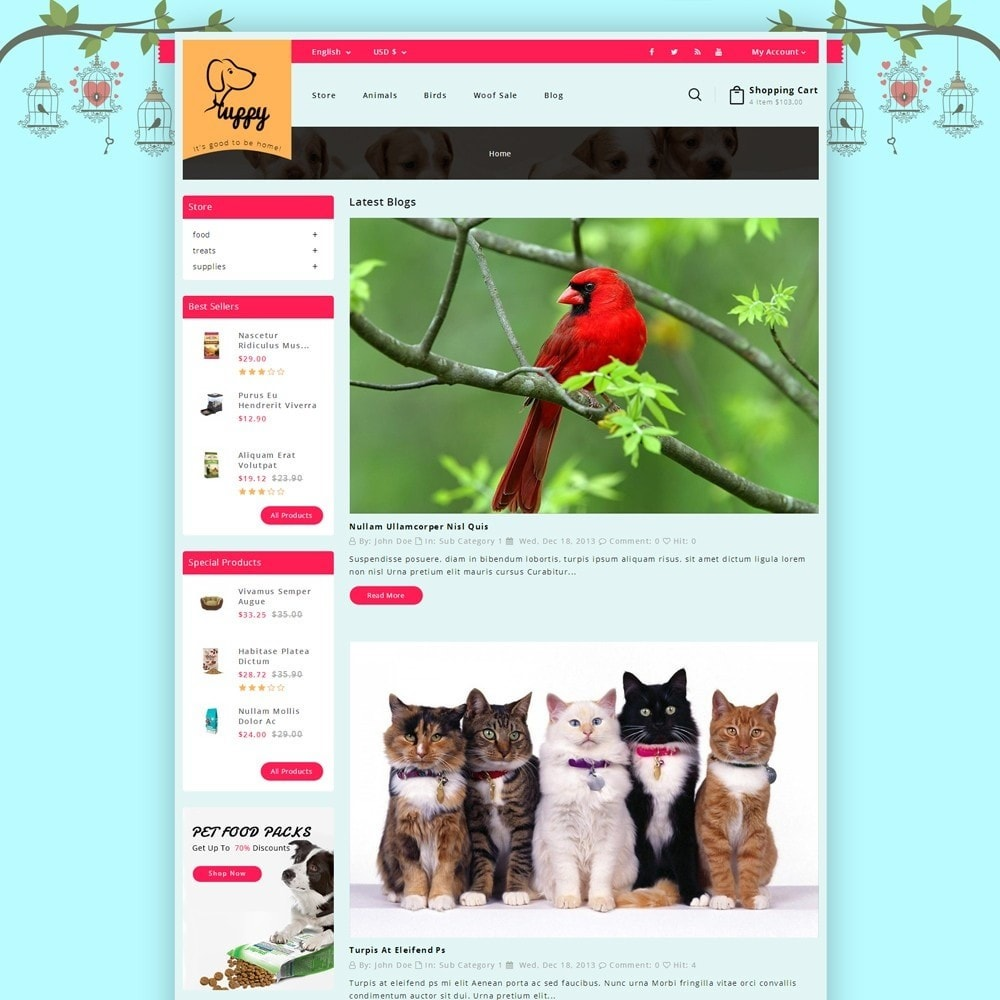 theme - Animals & Pets - Puppy Pet Store - 6
