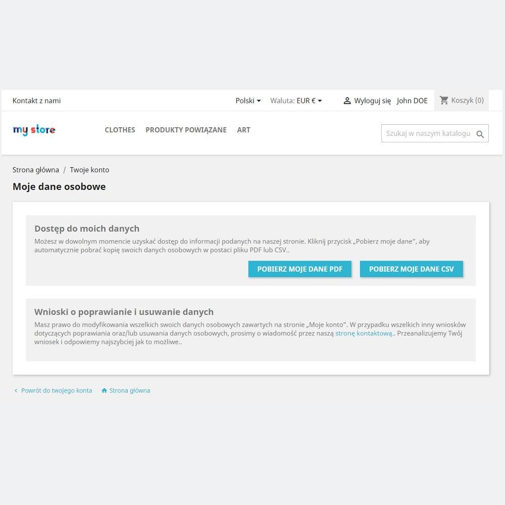 module - Wzmianki prawne - Oficjalna zgodność z RODO by PrestaShop (1.5 & 1.6) - 2