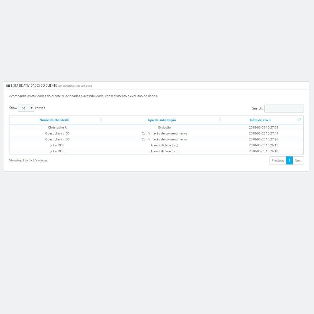 module - Jurídico - Conformidade oficial com o RGPD by PrestaShop (1.5 & 1.6) - 6