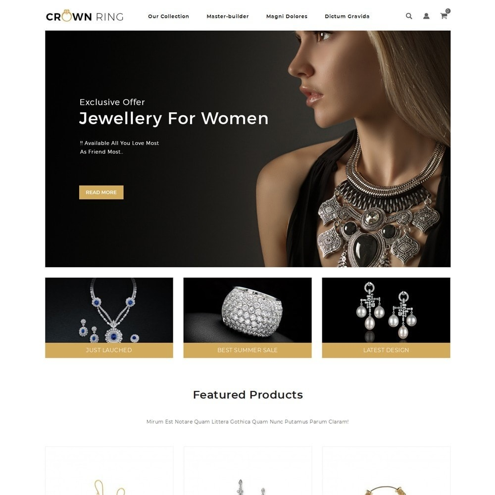theme - Joyas y Accesorios - Crown Ring - The Jewelry Store - 2
