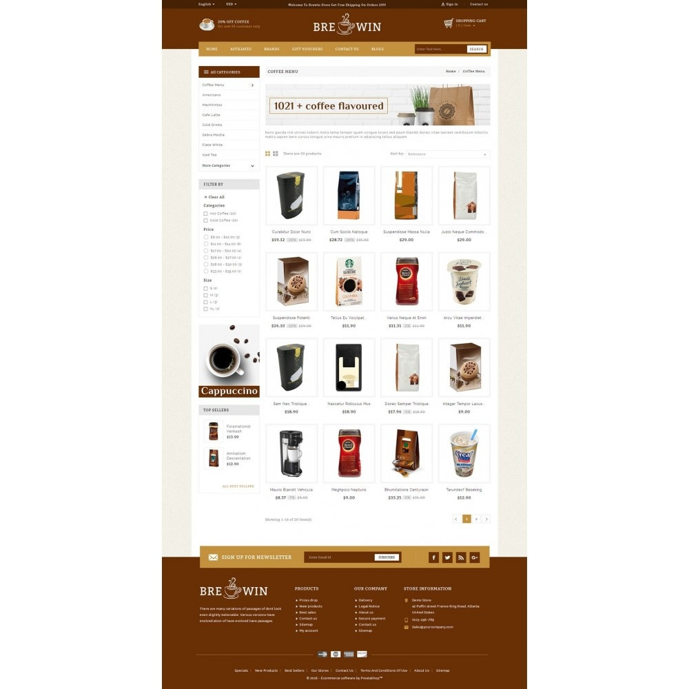 theme - Alimentos & Restaurantes - Brewin coffee Shop - 3
