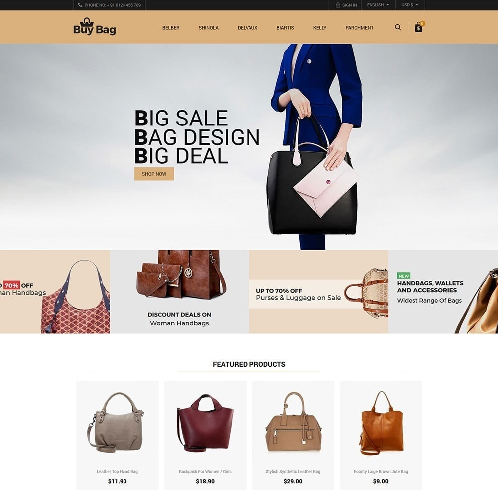 theme - Moda & Calçados - Buy Bag - Fashion Store - 2