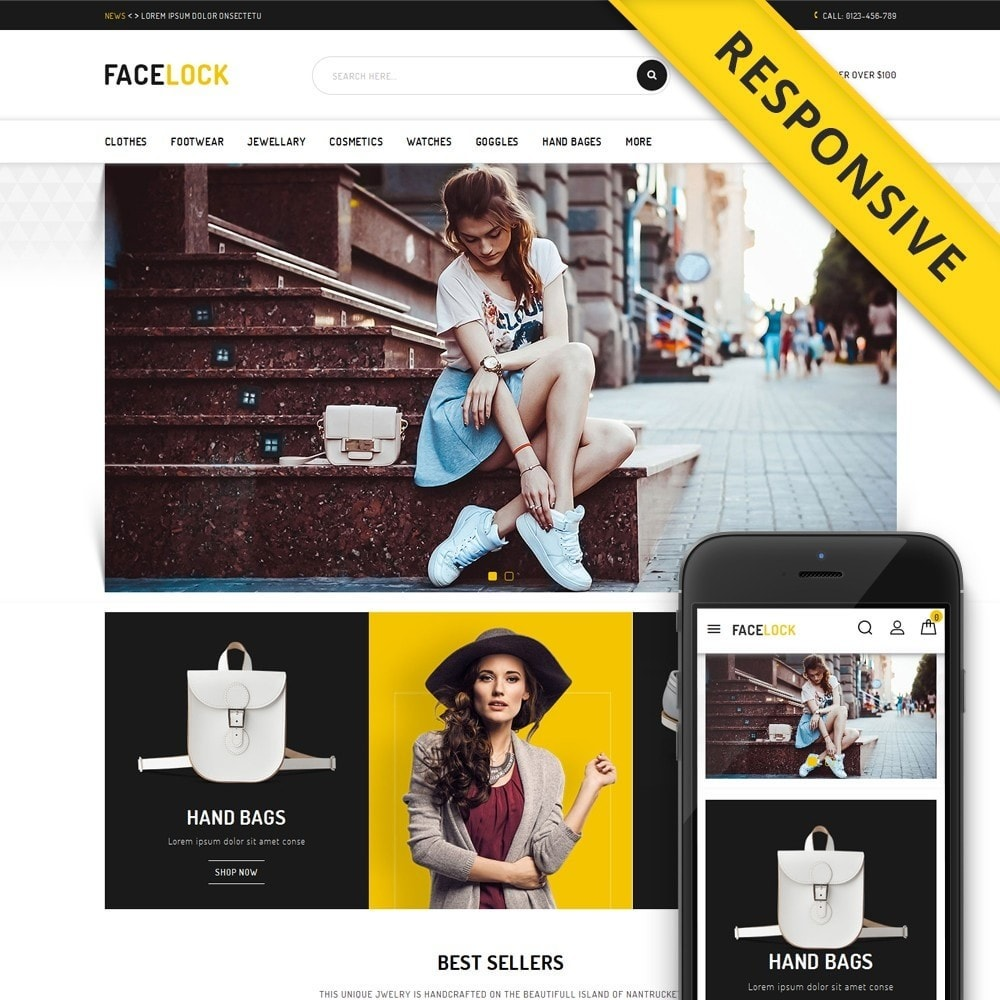 theme - Fashion & Shoes - Face Lock Accessories Store - 1