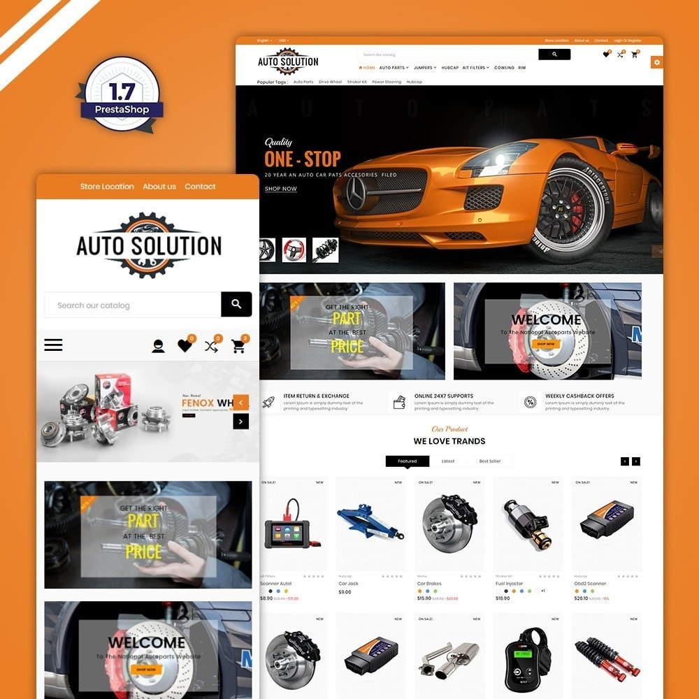 theme - Auto & Moto - Auto Solution – Automotive And Cart - 1